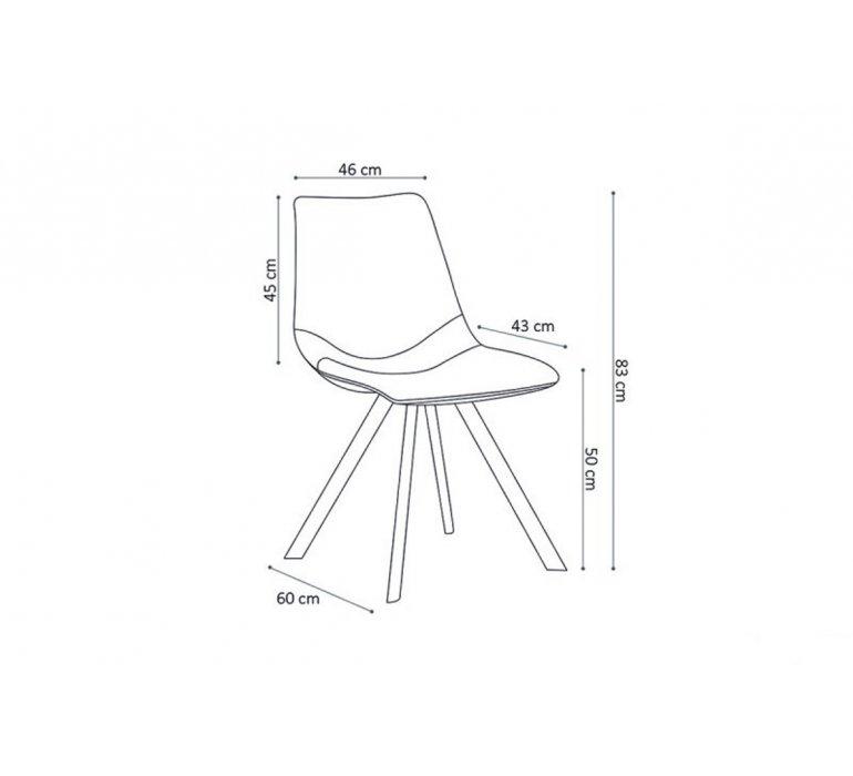 Chaise industrielle camel avec surpiqûres VINTAGE