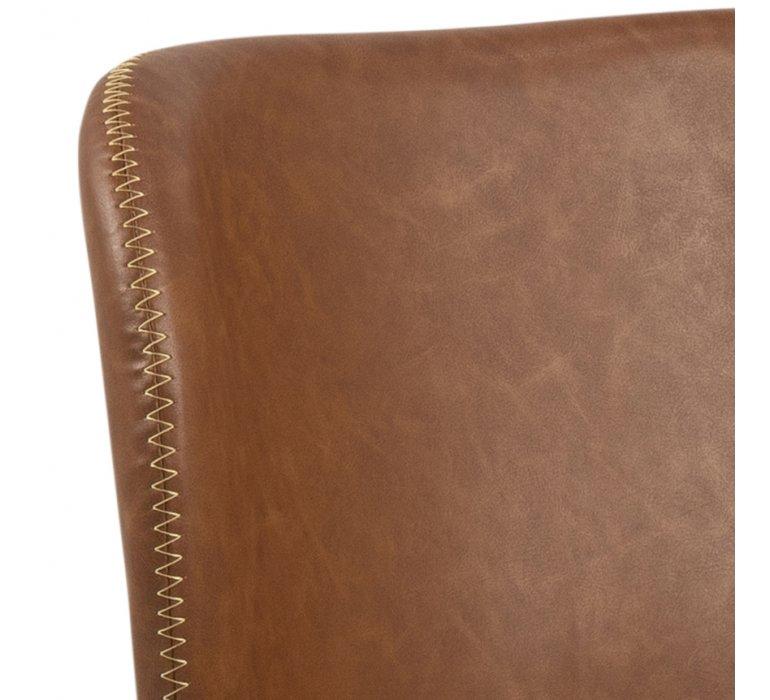 Chaise industrielle vintage effet cuir vieilli YANKEES