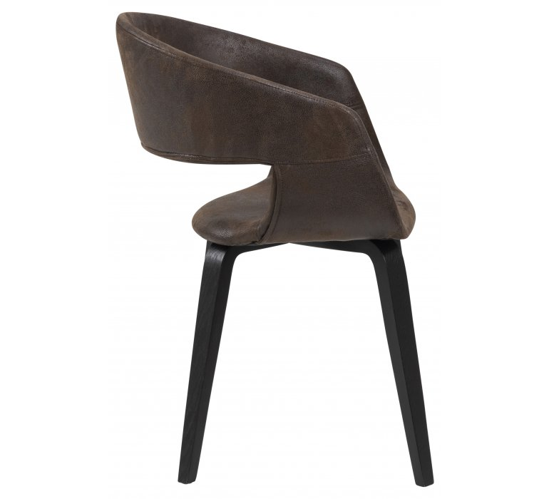 Chaise industrielle vintage marron LINCOLN