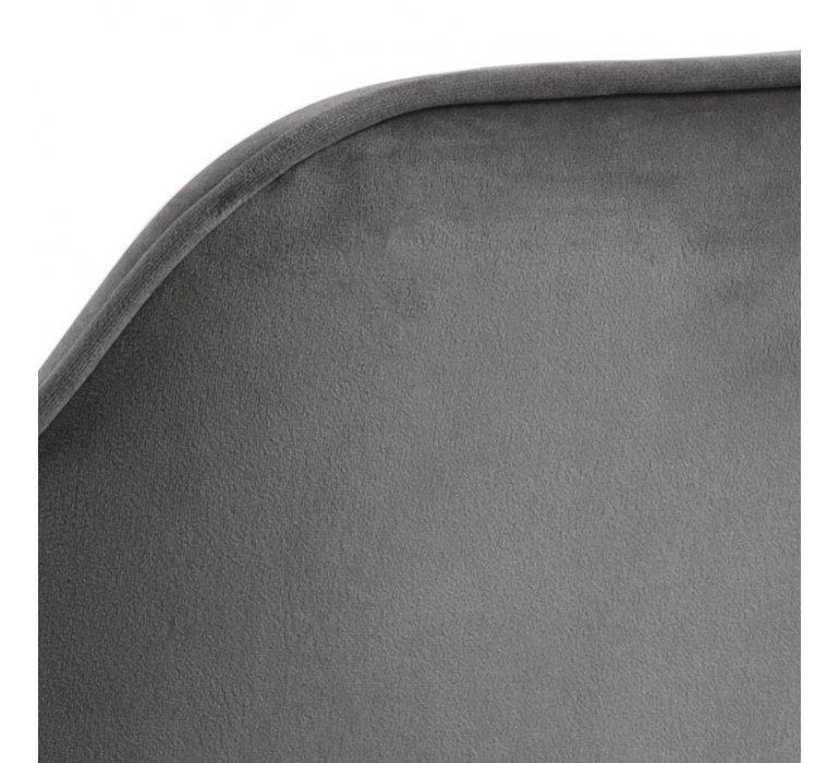 Chaise moderne capitonnée tissu gris (vendu par 2) ELSA