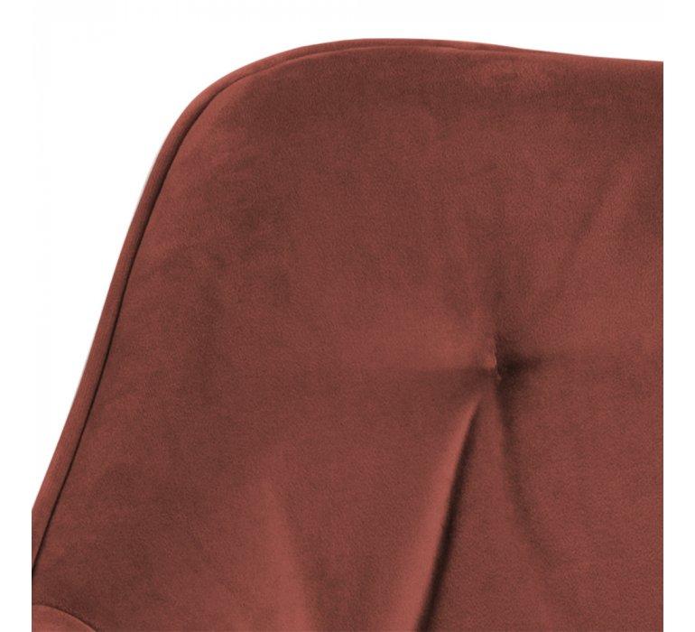 Chaise moderne capitonnée tissu velours rouille (vendu par 2) RUSTED