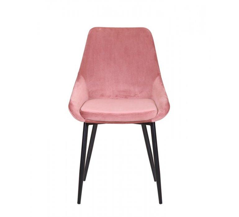 Chaise moderne en velours rose AFFINITY