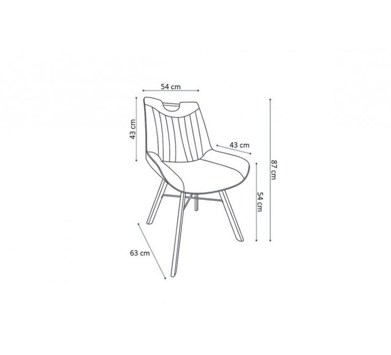 Chaise avec poignée moderne taupe HEIKE