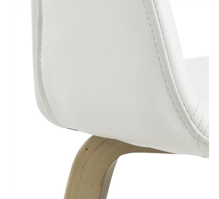 Chaise scandinave blanche design (lot de 2) ALLEN