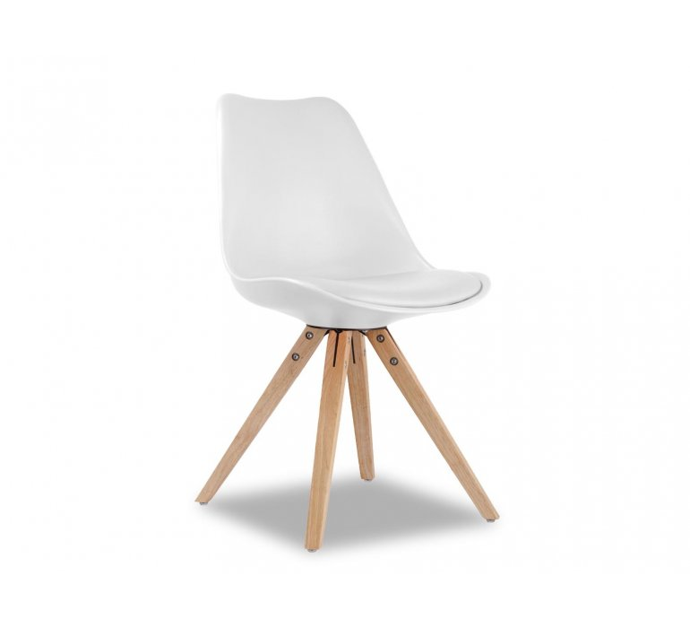 Chaise scandinave blanche SUEDE
