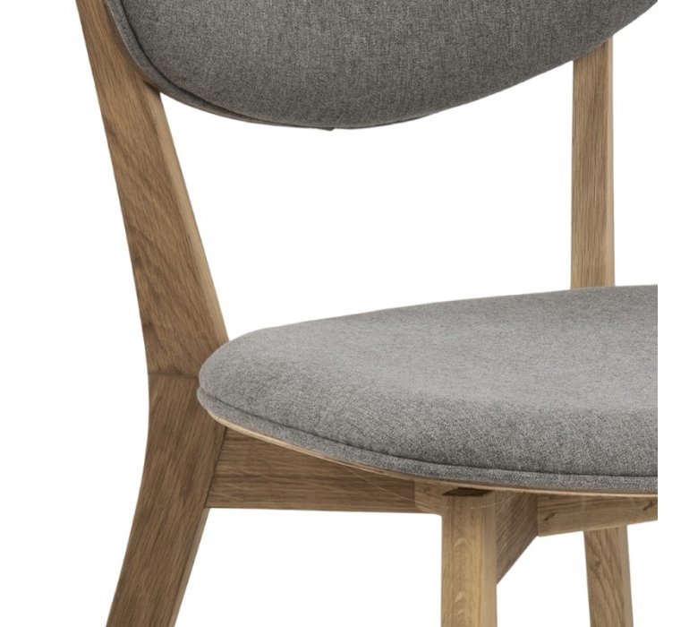Chaise scandinave bois et tissu BILBOA