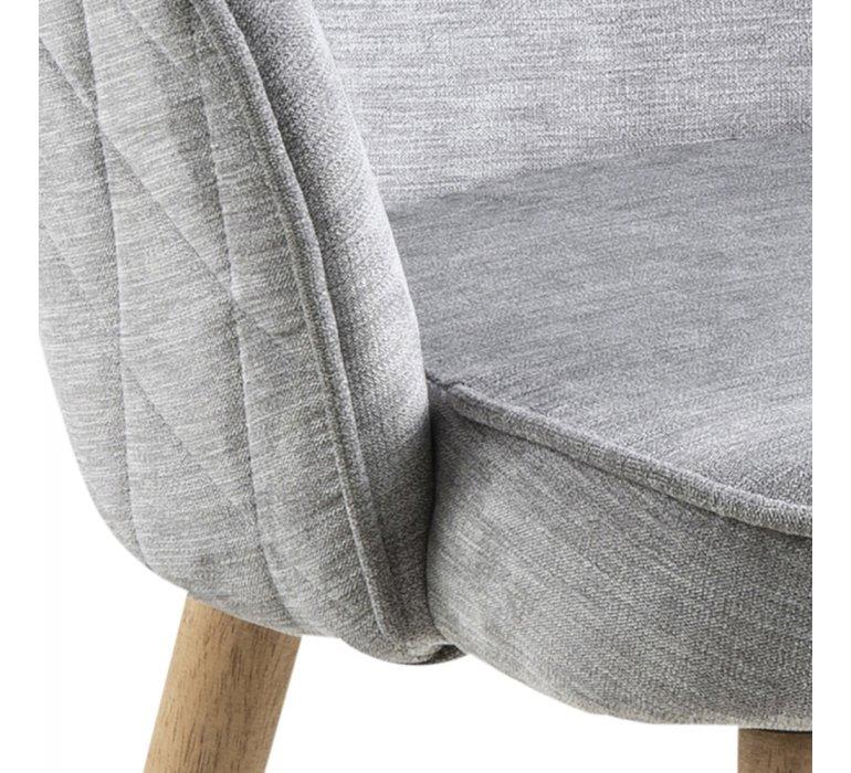 Chaise scandinave tissu capitonnée gris (lot de 2) EVA