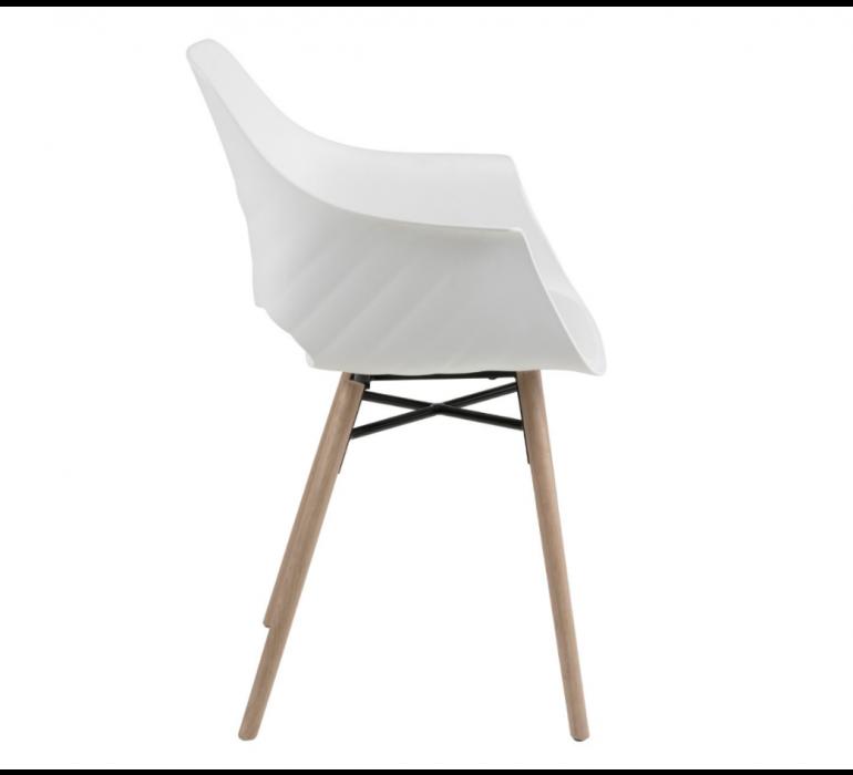 Chaise scandinave design blanche et bois (lot de 2) IVAN