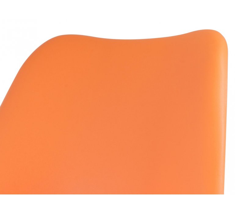 Chaise scandinave orange SUEDE