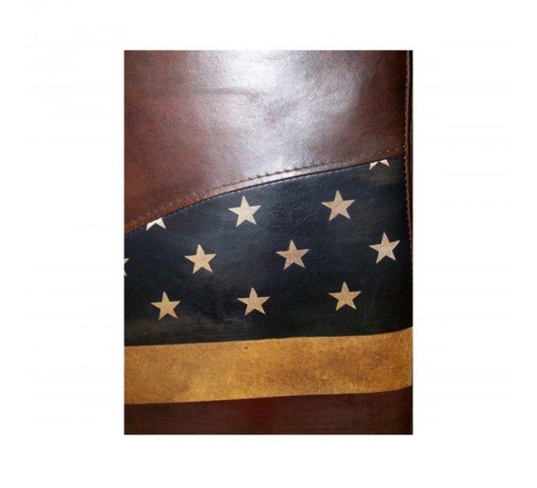 Fauteuil cigare cuir drapeau américain NATION