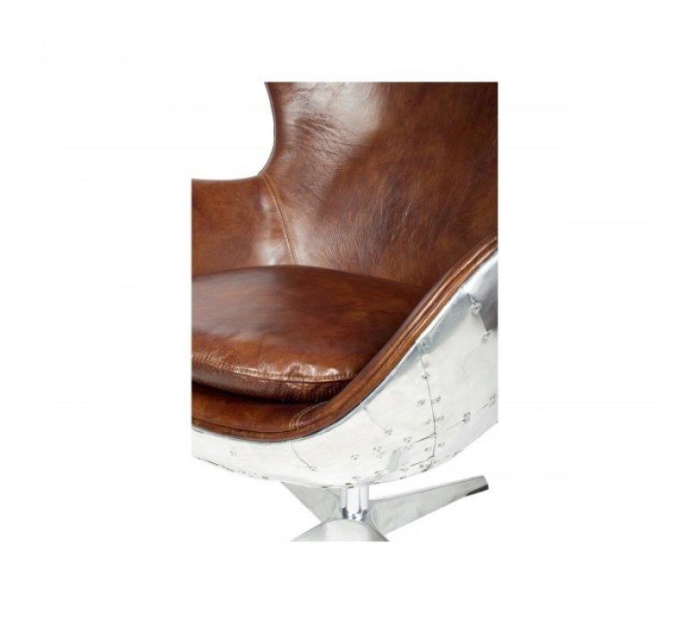 Fauteuil pivotant cuir et alu design AERONOTIK