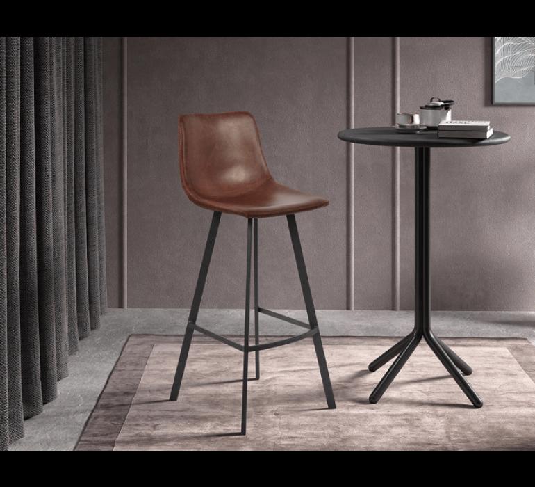 Chaise haute de bar marron style vintage HIPSTER
