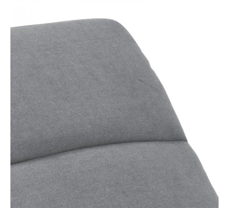 Méridienne 1 place tissu gris moderne NOUKY
