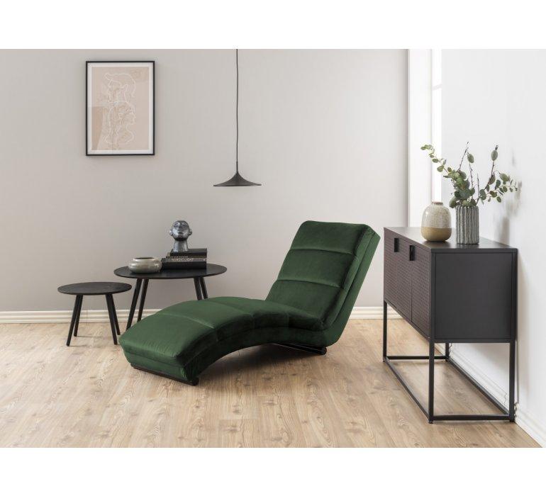 Méridienne velours vert moderne NOUKY