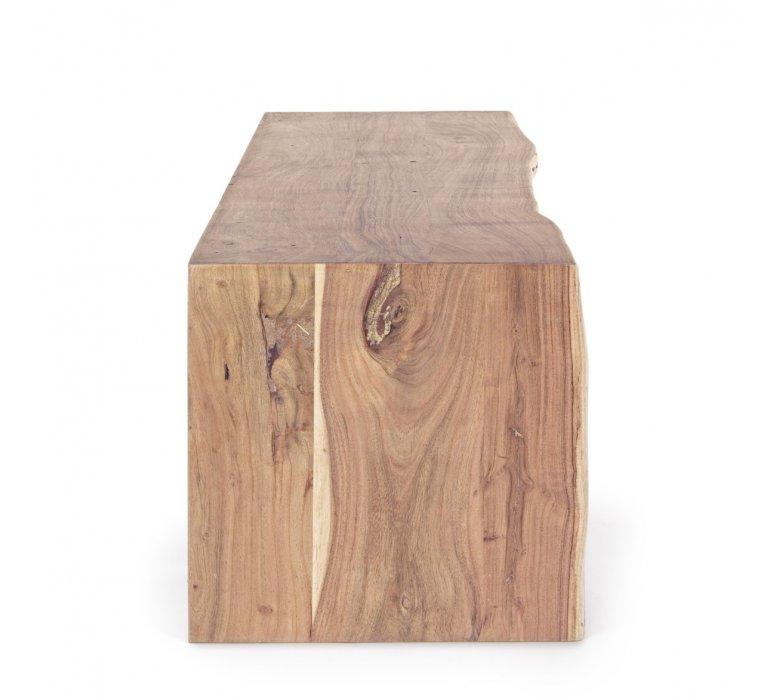 Meuble TV bois massif scandinave effet tronc d'arbre TRADBORJ