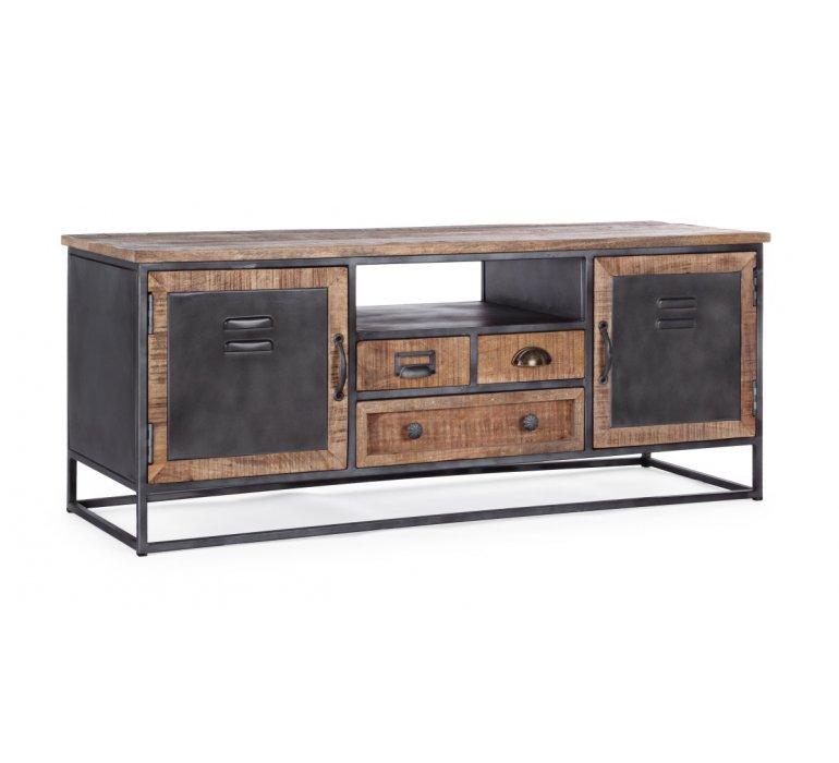 Meuble TV industriel bois et métal 125cm IRON