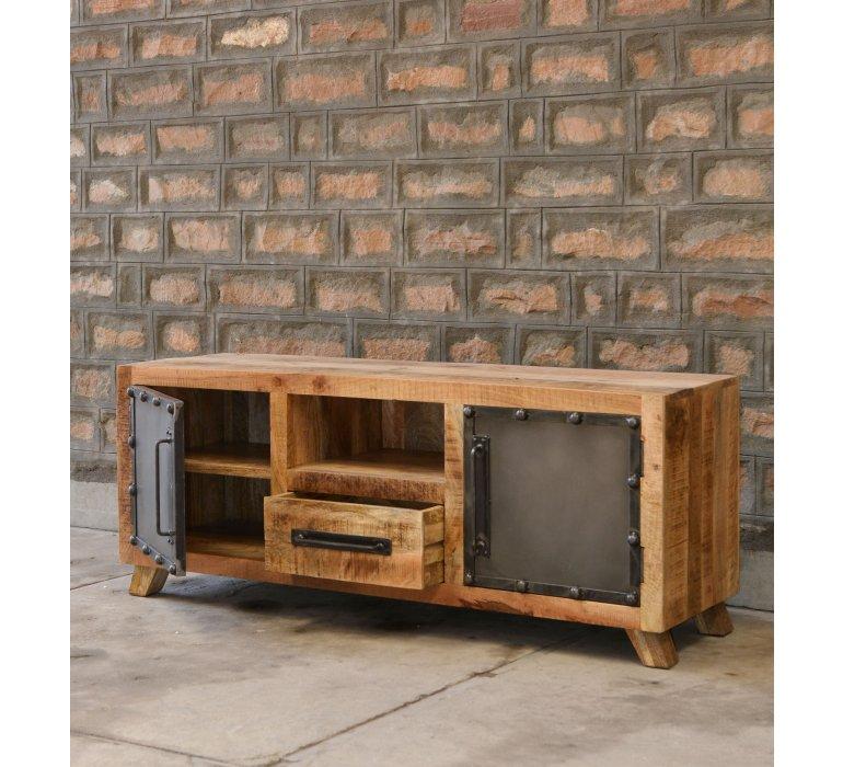 Meuble TV industriel bois et métal LINCOLN