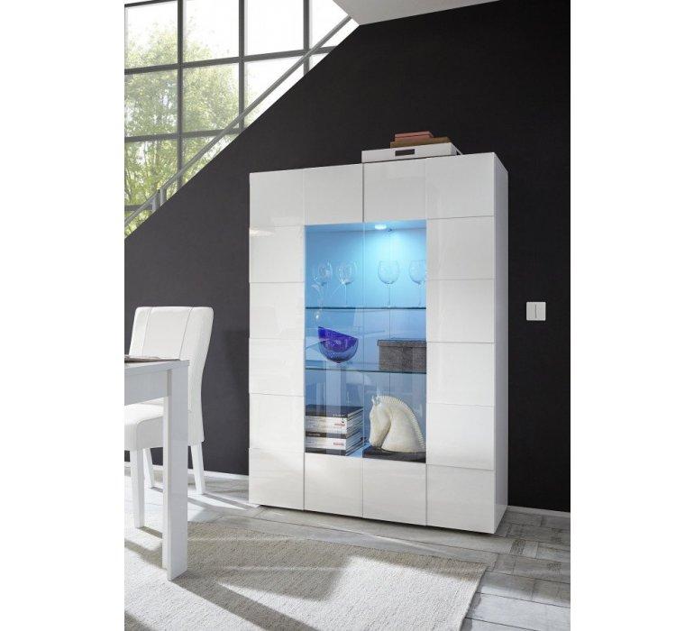 Vaisselier blanc laqué design LAZIO
