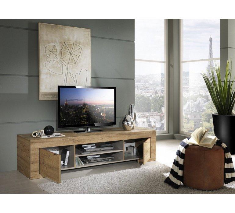 Banc TV bois style africain GABON