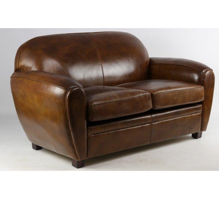 Canapé cuir marron BOUBA
