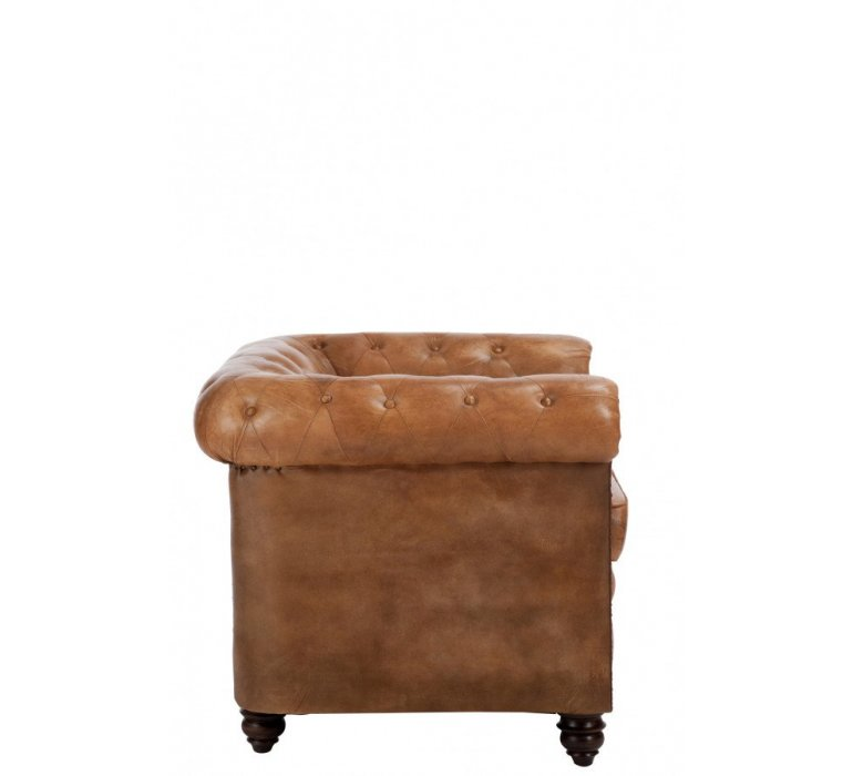 Fauteuil Chesterfield marron WINCHESTER