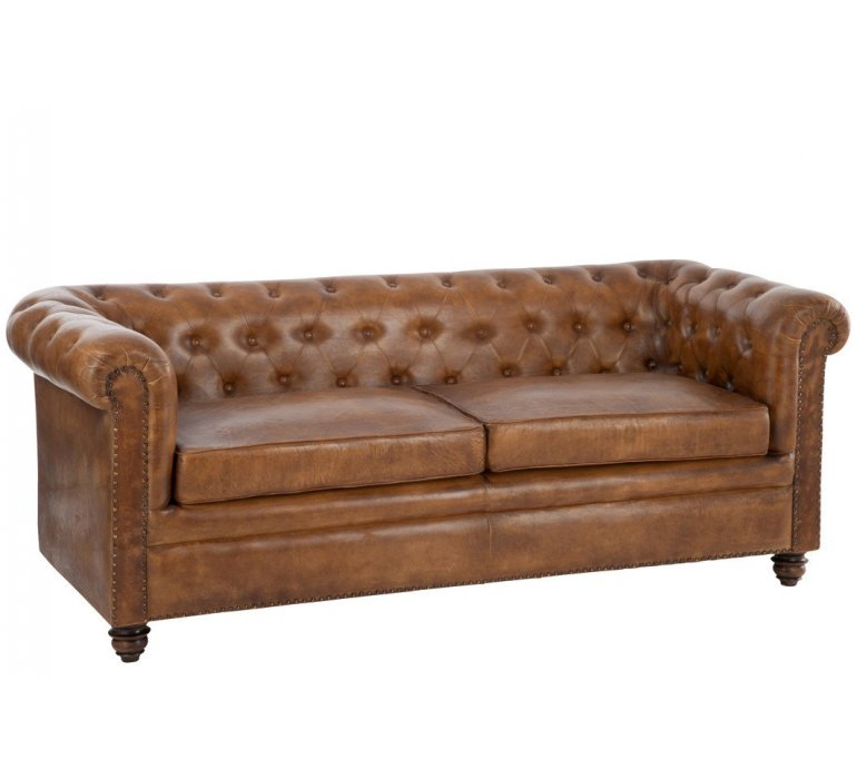 Canapé Chesterfield marron WINCHESTER