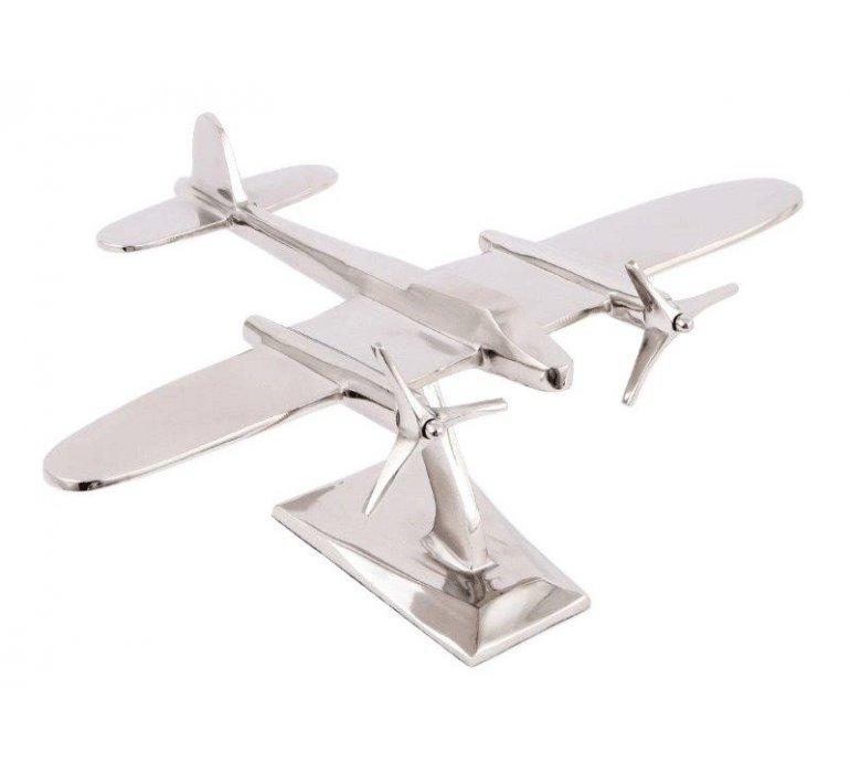 Avion sur pied chromé PLANE