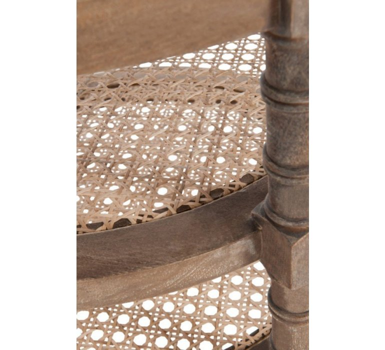 Table d'appoint ronde bois clair style charme MEREDITH