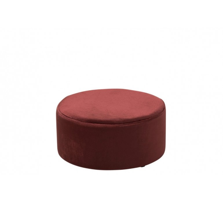 Pouf rond velours bordeaux WINE