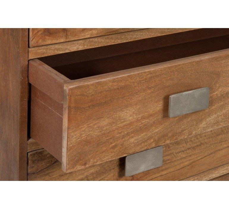 Commode bois et métal moderne INOXA