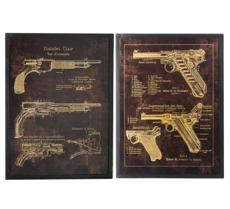Décoration murale pistolet REVOLVER