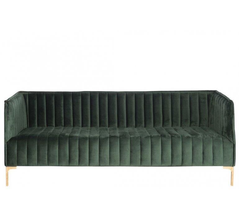 Canapé tissu velours vert EMERAUDE