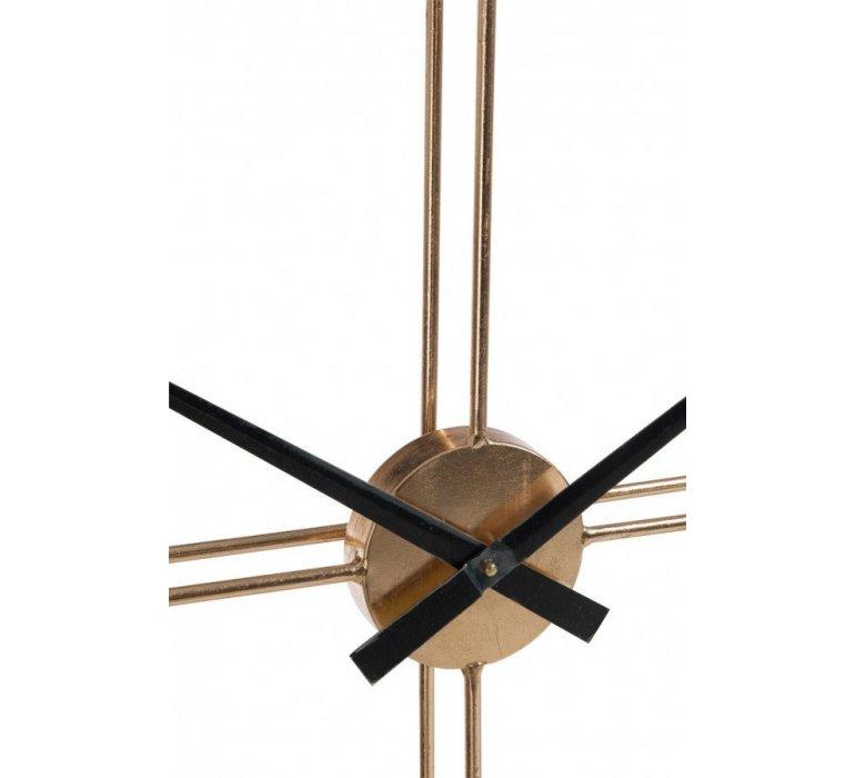 Horloge ronde en métal or GOLD