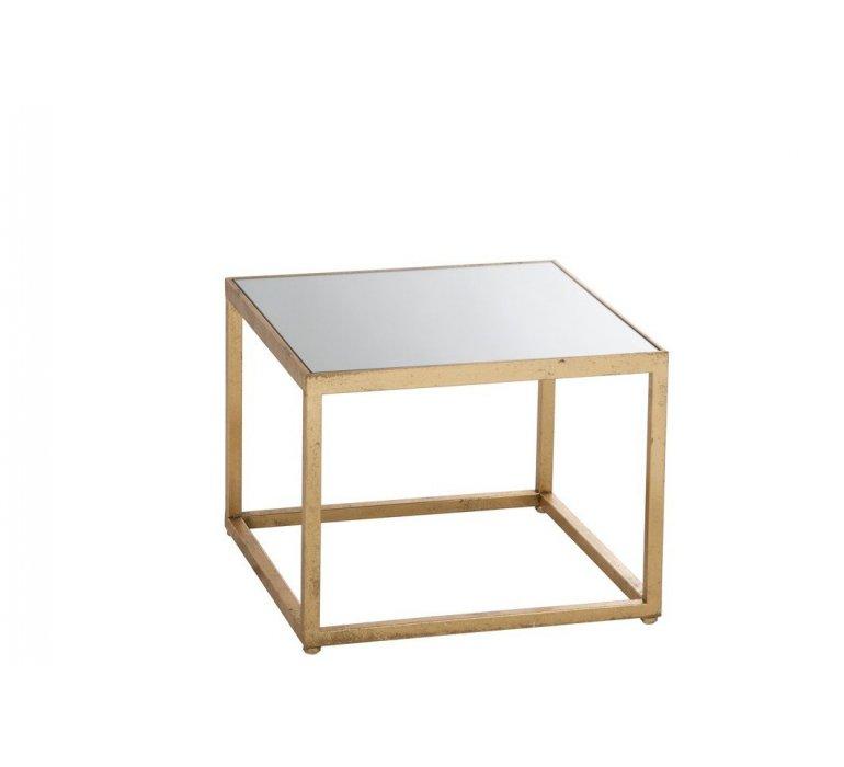 Bout de canapé en métal or et verre GOLD