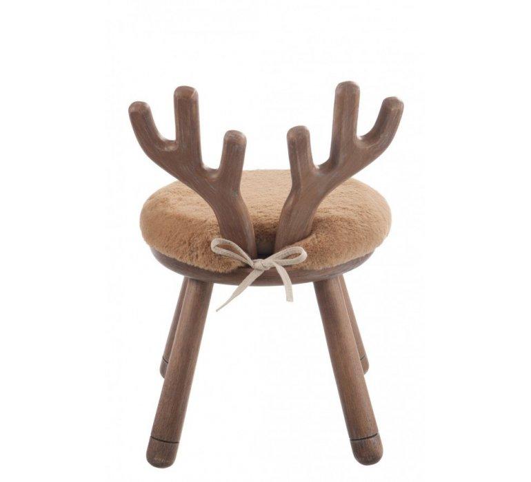 Tabouret scandinave bois naturel CERF