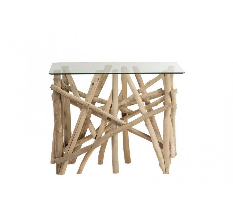 Console bois et verre style scandinave GOTLAND