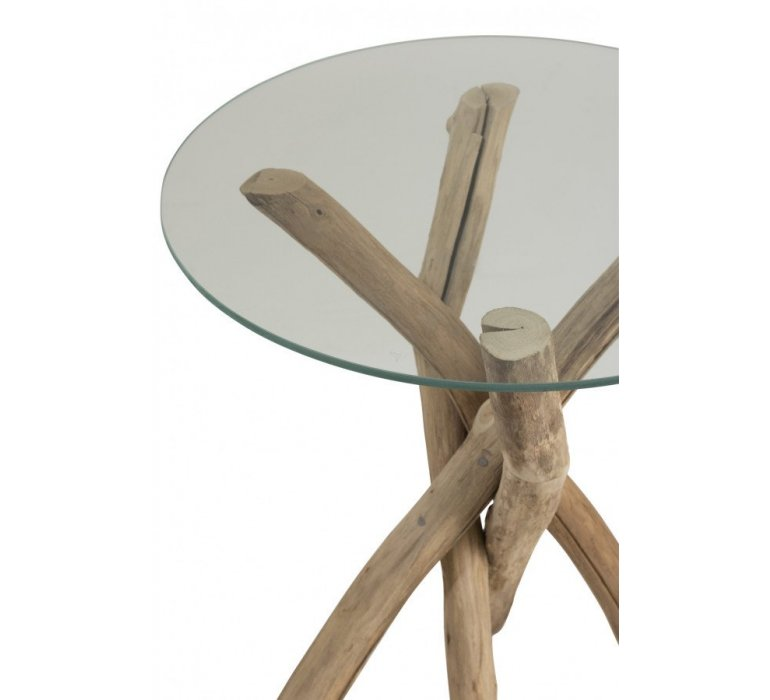 Table gigogne ronde style scandinave GOTLAND