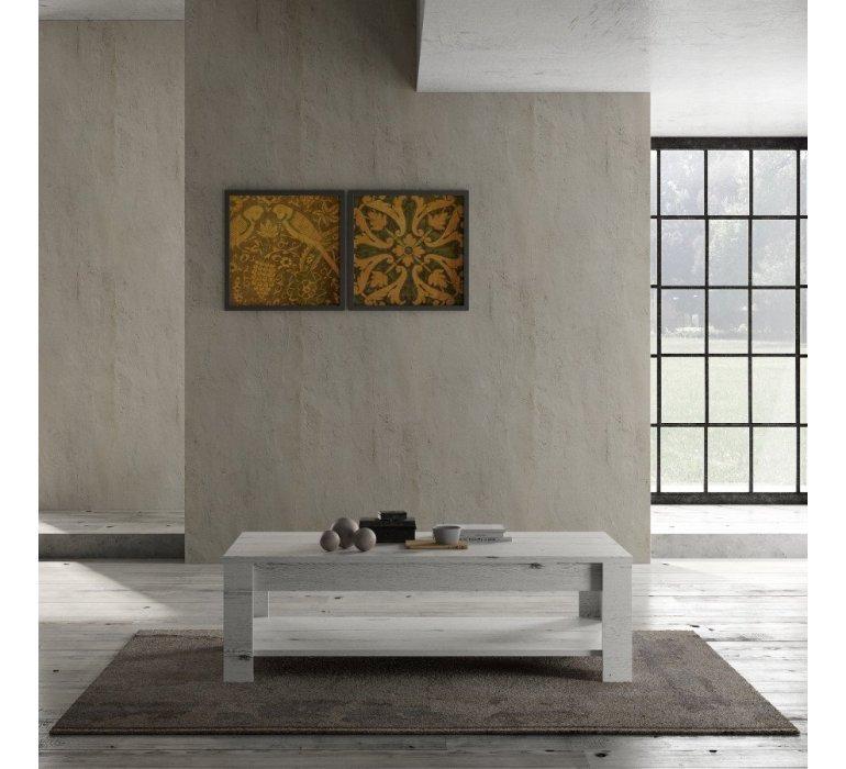 Table de salon bois blanc BIARRITZ