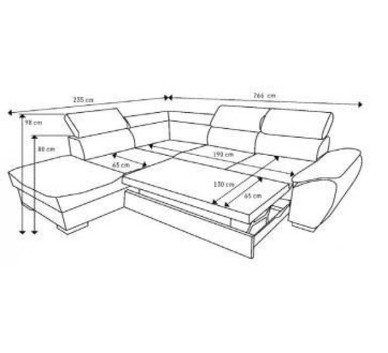 Canapé d'angle convertible tissu gris design SAN REMO