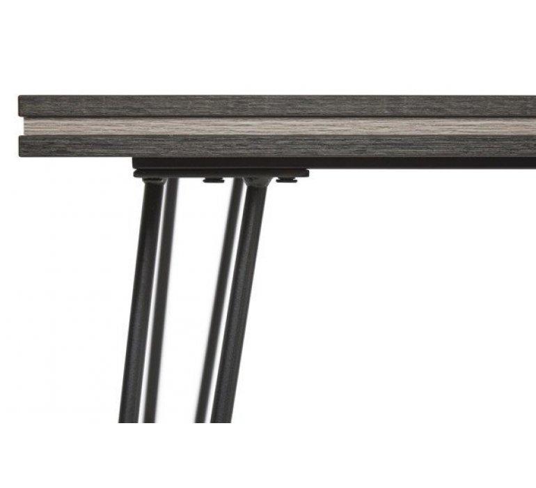 Table à manger gris clair et anthracite scandinave ARHUS