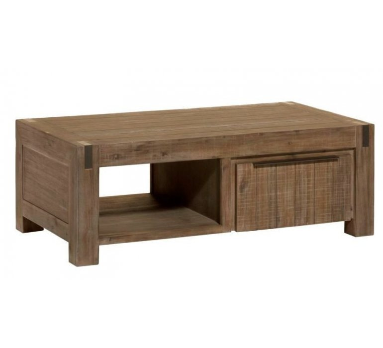 Table basse bois massif style Africain MOZAMBIQUE