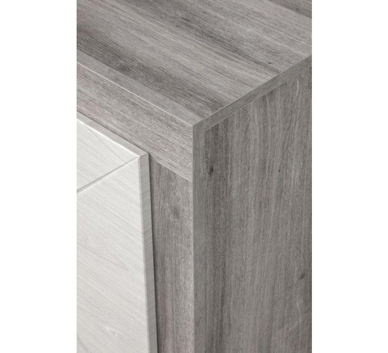 Enfilade chêne grisé et blanc moderne VENDOME