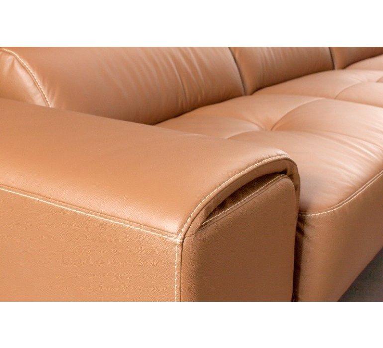 Canapé d'angle en PU camel STEEL