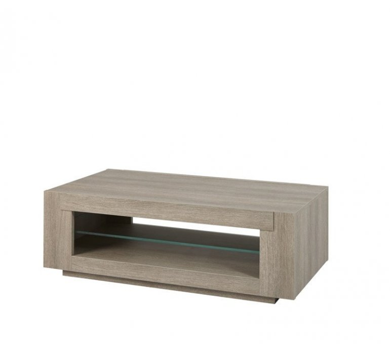 Table basse chêne gris contemporain JANE