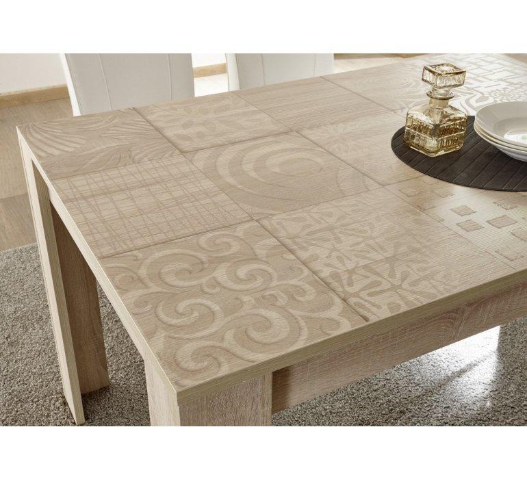 Table à manger beige avec motifs moderne NATURA