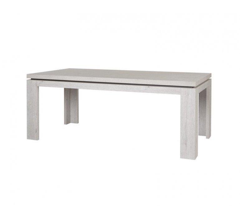 Table à manger chêne gris clair et anthracite contemporain KUBE