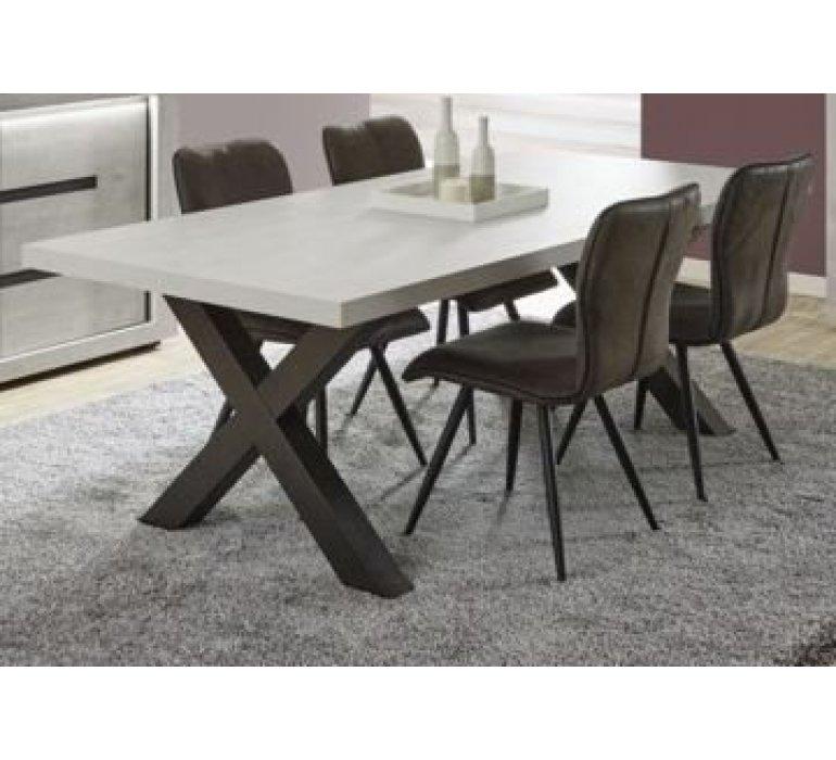 Table à manger chêne gris clair contemporain VIKY