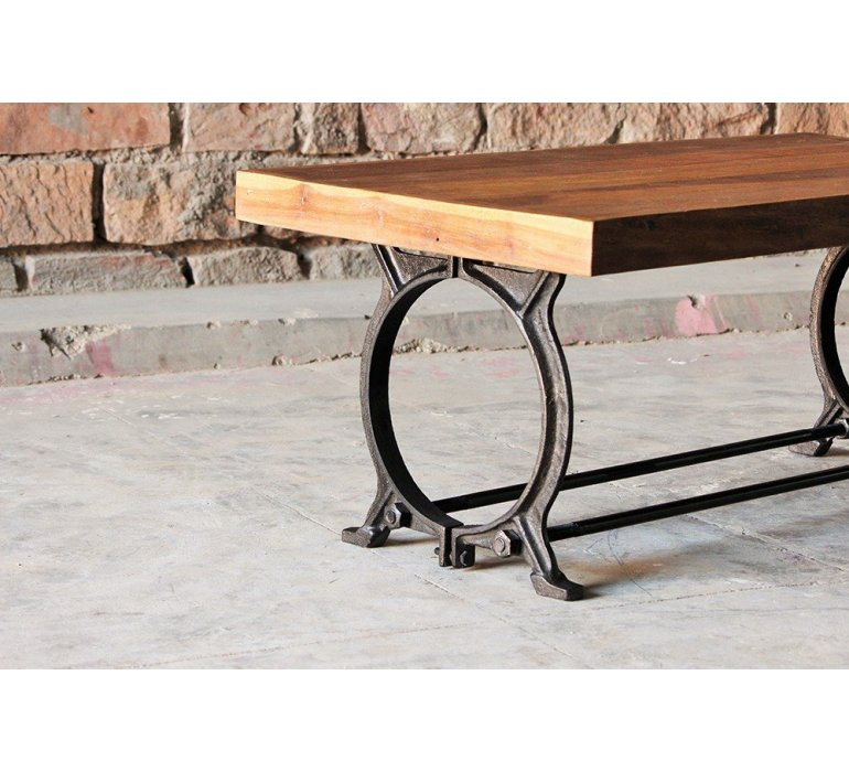 Table basse industriel bois massif QUAI