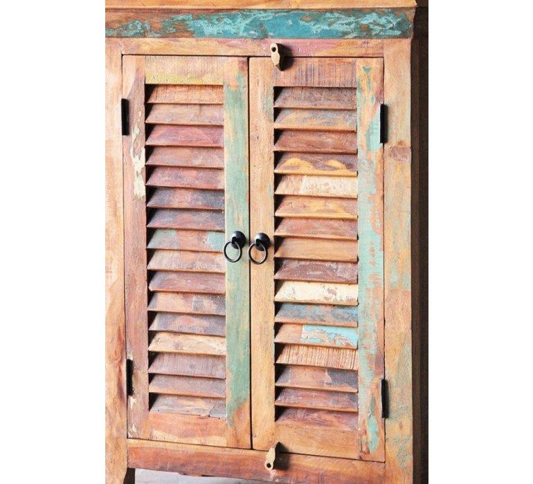 Armoire bois massif style exotique MALDIVES