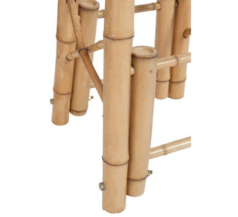 Tabouret de bar en bambou naturel style exotique TAHITI